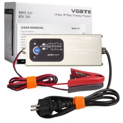Vgate MXS 5.0 Smart Lead Acid Battery Charger Fully Automatic 12V 5A With Temperature Compensation Car MXS 5.0